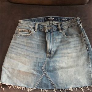 Hollister Light Wash Jean Skirt